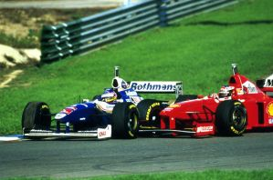 Jacques Villeneuve | M. Schumacher (Europe 1997) by F1-history