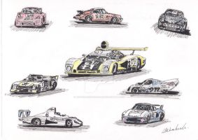1978 Le Mans Cars by thunderingpikachu