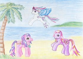 Ponies on the Beach by NormaLeeInsane