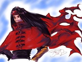 Vincent Valentine by purplerubyred