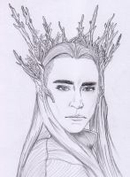 Thranduil Sketch by Aenea-Jones