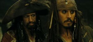 father and son : Teague and Jack Sparrow by AKATSUKIGIRL47