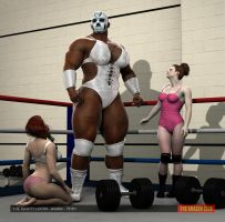 The Mighty Lucha - female wrestler - 7ft 6in by theamazonclub
