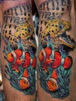 underwater world tattoo by Mirek vel Stotker by Stotker