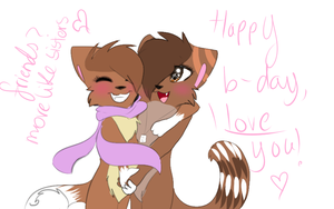 Happy birthday my derp, I love you by indieroses