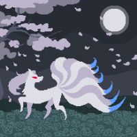 Moonlight Ninetales (May 2014) by emimonserrate