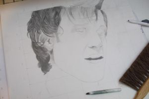 WIP: The Eleventh Doctor by ArtsyLady