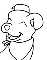 Puppy Dog Smile Free Lineart- MS paint by RippedMoon