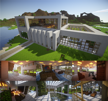 Modern Minecraft House by DaggyTee