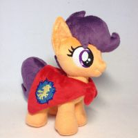 Plushie Scootaloo Whith Folded Wings in the Cape by Burgunzik