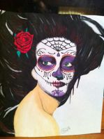 Skull Girl Painting by XxSierraRose