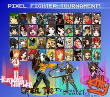 PIXEL FIGHTER TOURNAMENT- Rnd1 by Professordemetri