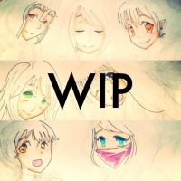 WIP W101 Group Picture Drawing by Khrisanthemum