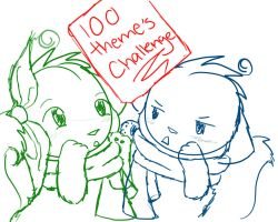 100 Themes Introduction Sketch by XMistyFireX