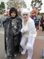 Ghost and Jon Snow Cosplay by valaina-williams