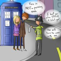 The Doctor and Rose in Trouble by Lalai-chan