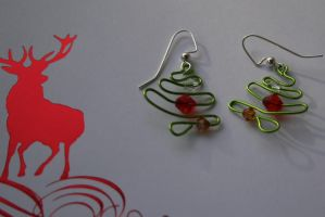 Wire Christmas Trees by Firestorm-the-Poet