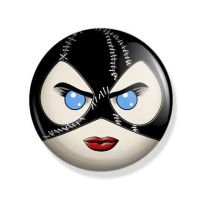 Catwoman Pin Back Button by Mutant-Cactus