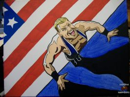 Jack Swagger painting by CaptainMarvelous