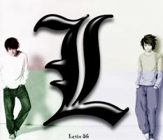 L Lawliet and L Lawliet by Letix86