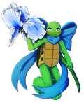 Blue Spring Turtle by CutieClovers