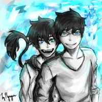 Okumura Twins by Vietii