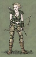 Player Character 04 - Elven Ranger by Domigorgon