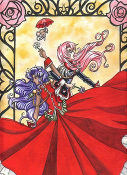 Utena and Anthy by redheaded-step-child