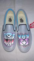 Transformer Vans-custom hand painted one of a kind by JokerFootwear