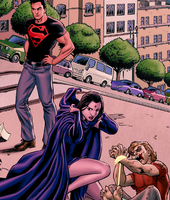 Raven and Superboy by AnaliaRachelRoth
