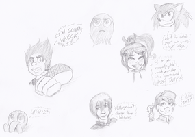 Wreck-It Ralph Sketches by RhythmicPulse