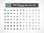 Free Vector Flat Shopping Line Icon Set by Designbolts