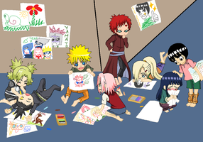 Chibi Naruto Artists by Shioriko