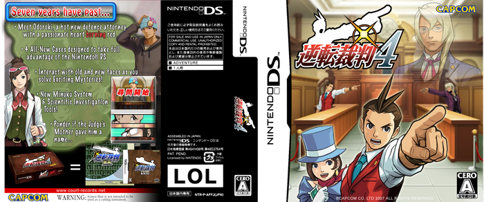 GS4 Apollo Justice DS Box Art by DaWooster