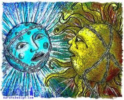 Chained Sun and Moon by aaronsdesign