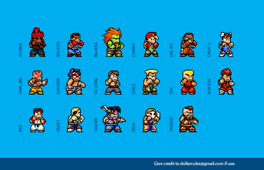 Super Street Fighter 2 Sprites by dollarcube