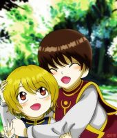 HxH : Kurapika and Pairo by xcredensjustitiamx