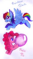 Rainbow and Pinkie short art by Jack-a-Lynn