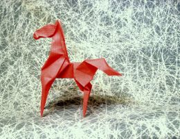 Origami Red horse by Orestigami