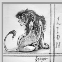 The lion by OmegaLioness
