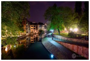 Strasbourg by night by Satourne