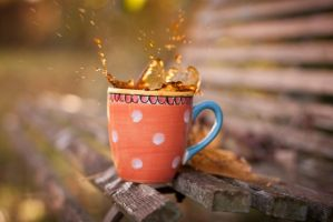 Delicious hot coffee by Pamba