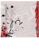 Grunge floral background by disable54