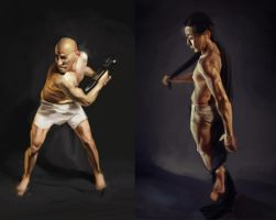 Male figure studies III IV by xyphid