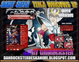 Seiya Pegasus Theme Windows XP by Danrockster