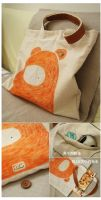 bag design: monster orange by jjsara