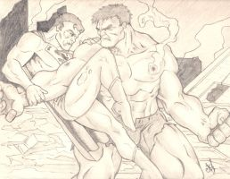 Supes/Hulk Grudge 2 by JOEYDES