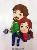 Ellie and Joel in fondant! by LaIrish