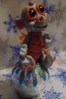 polymer clay dragon bubbles by crazylittlecritters
