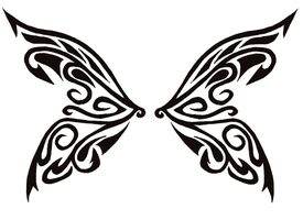 Tribal Butterfly Wings by tribal-tattoos